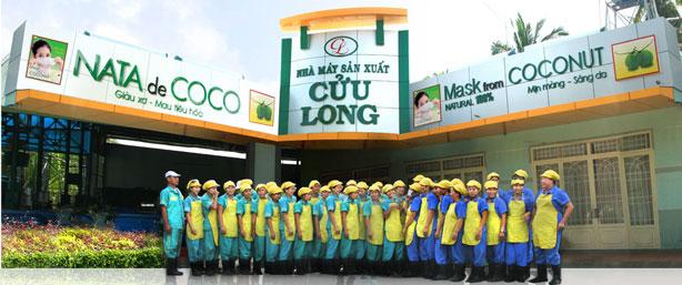 Nhà máy sản xuất dầu dừa