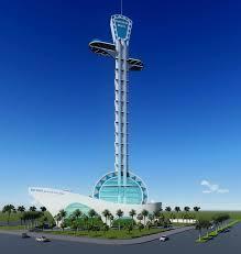 Phối cảnh dự án khách sạn 5 sao hình cây đờn kìm của Công ty cổ phần ôtô Bảo Toàn.