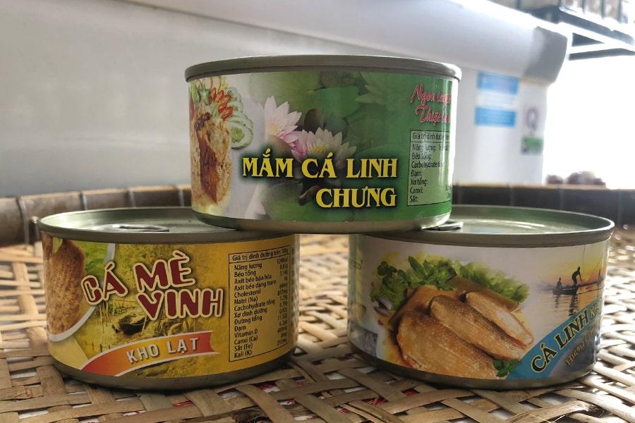 Bộ ba: cá linh kho mía, cá mè vinh kho lạt, mắm cá linh chưng - đặc sản An Giang