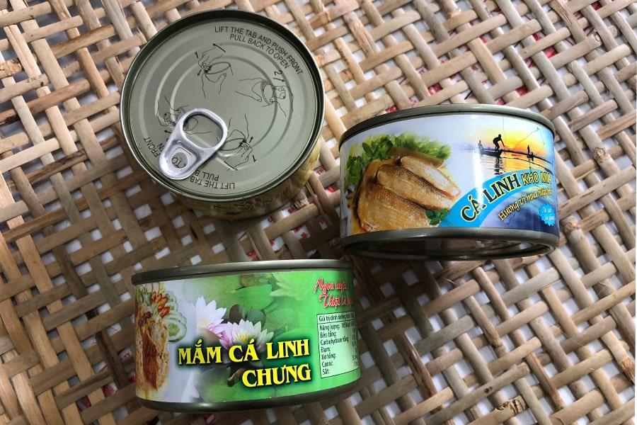 Mắm cá linh chưng đóng hộp thơm ngon, có sẵn tại cửa hàng Đặc sản miền Tây
