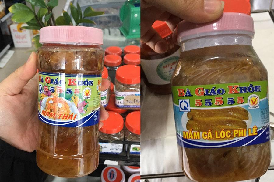 Các sản phẩm mắm Châu Đốc An Giang có tại cửa hàng Đặc sản miền Tây