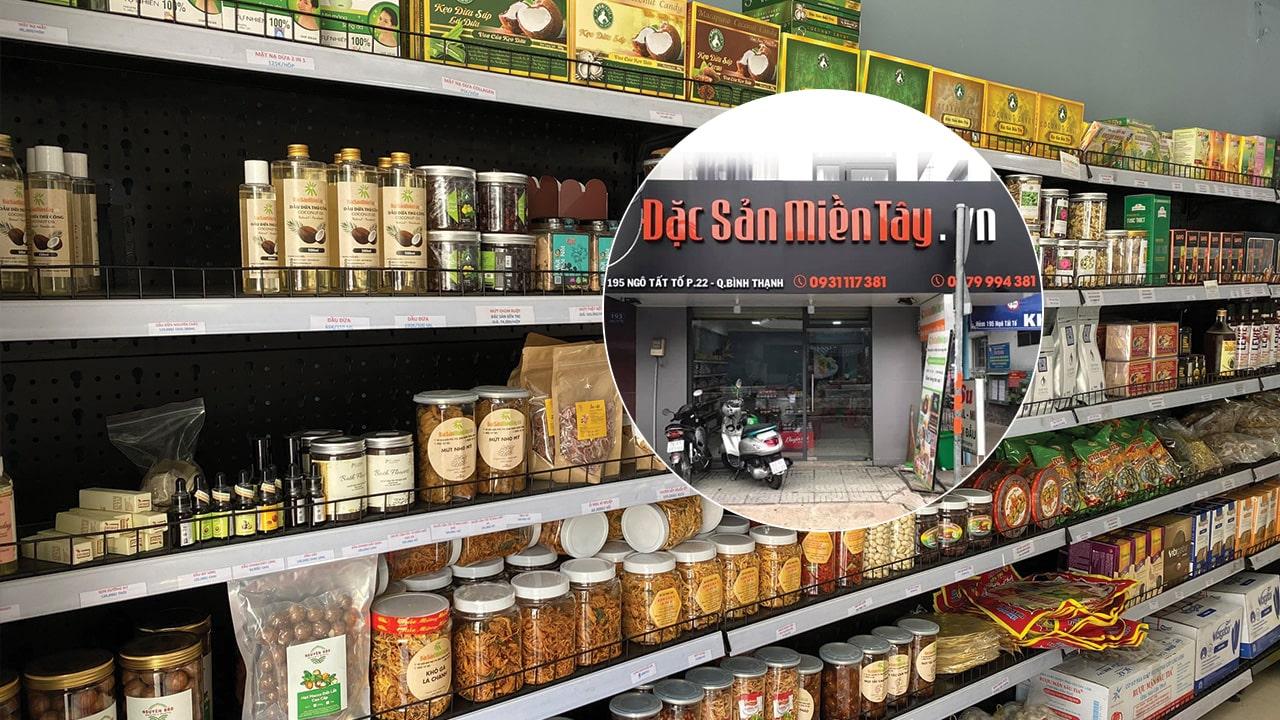 cửa hàng bán đường thốt nốt An Giang