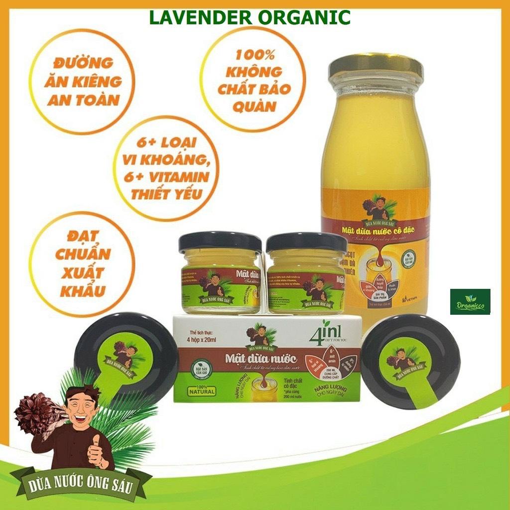 mật hoa dừa, mật mía organic